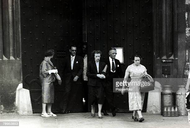 12th July 1955 The family of Ruth Ellis leaving Holloway Prison after seeing her for the last time before her execution Ruth Ellis was hanged on 13th...