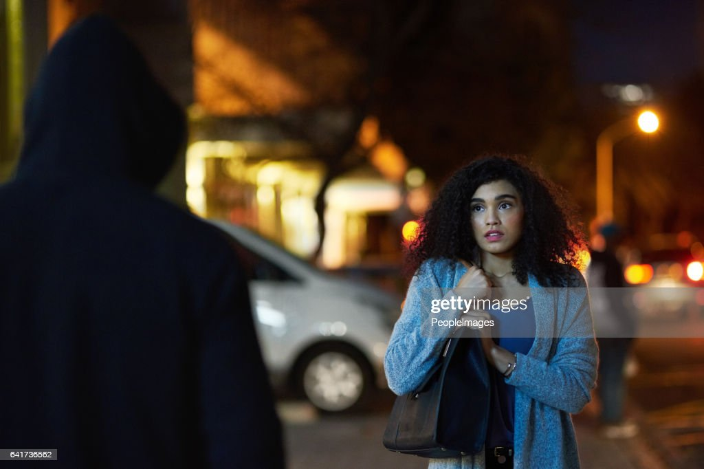 Crime has become quite widespread in the city : Stock Photo