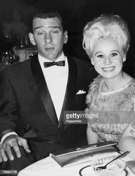 Crime London England Circa 1960's The Kray Twins Reginald Kray with film and movie actress Barbara Windsor