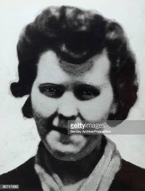 Crime London England The Christie Murder case Portrait of Muriel Eady a murder victim of John Reginald Halliday Christie Christie later went on trial...