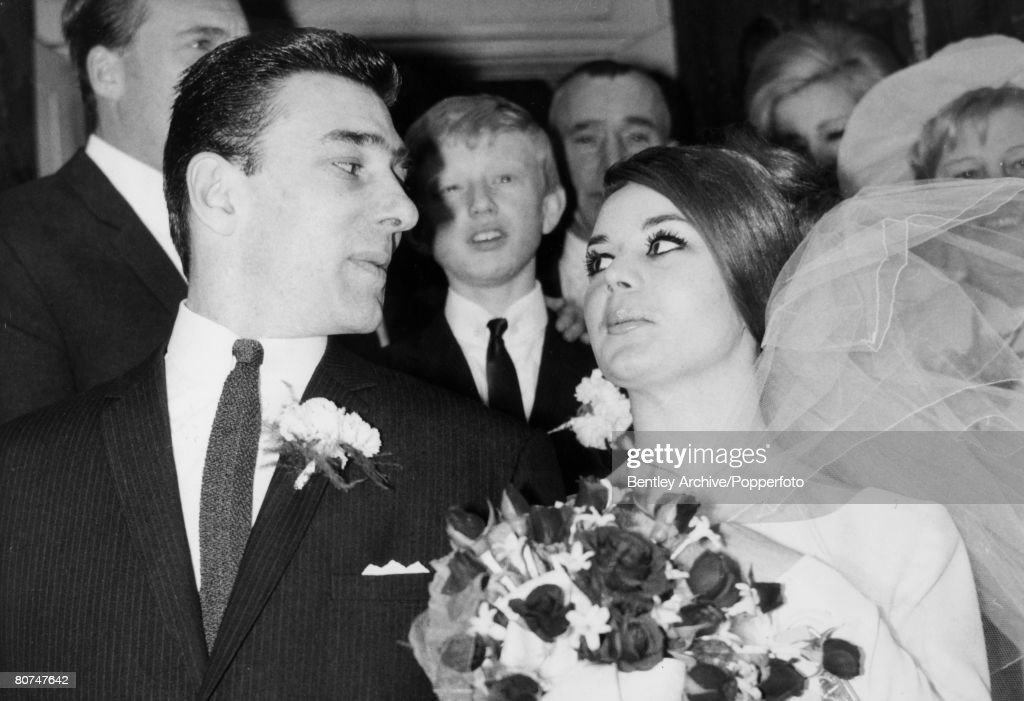 Crime London, England. 1965. The Kray Twins. Reginald Kray on his wedding day with his bride Frances Shea. : News Photo