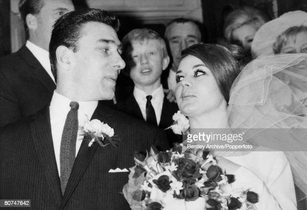Crime London England The Kray Twins Reginald Kray on his wedding day with his bride Frances Shea
