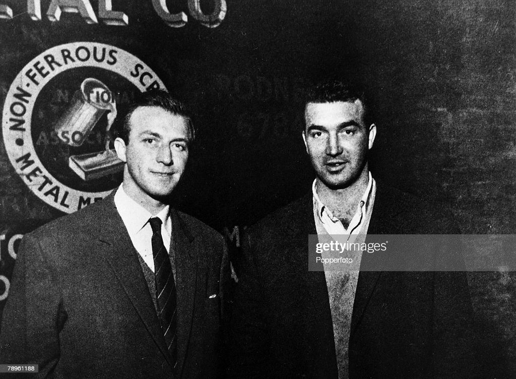 Crime. personalities. pic: 1960's. London. Charles and Eddie Richardson pictured outside their Brixton scrap-metal yard. The brothers were London gangsters who had a long running gangland feud with the Kray Brothers. : News Photo