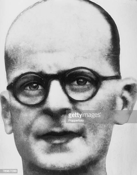 circa 1953 John Christie British serial killer active in the 1940's and 1950's who was arrested brought to trial and hanged in 1953