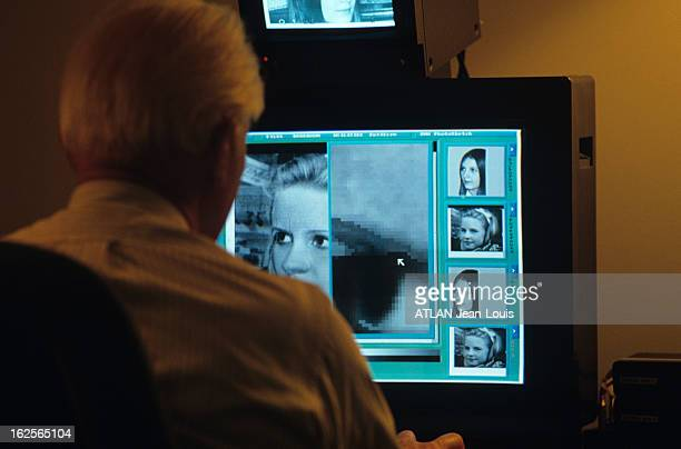 Portraits Of Missing Children Aged By Computer Of The National Center For Missing And Exploited Children In Arlington, Virginia. Virginie- avril...