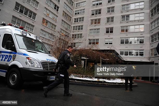 Crime scene at 155 West 68th Street December 31 2009 where Shele Danishefsky Covlin died under suspicious circumstances