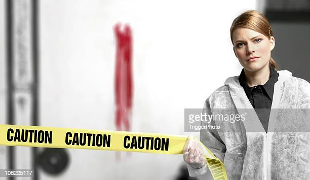 crime scene caution - doom patrol stock photos and pictures