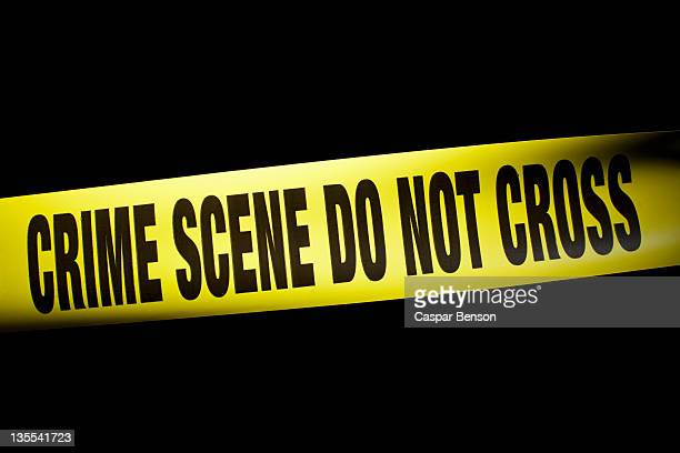crime scene do not cross cordon tape - cordon tape stock pictures, royalty-free photos & images