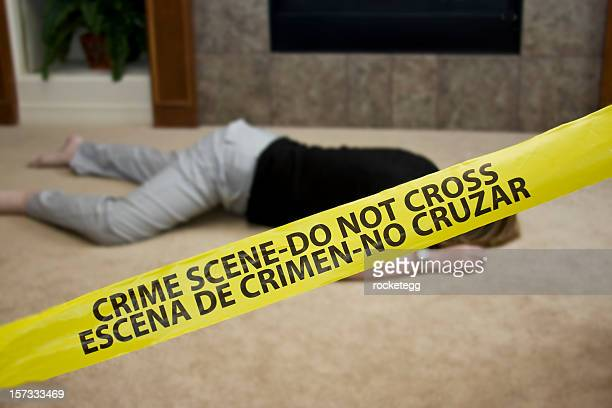 crime scene homicide - dead female bodies stockfoto's en -beelden