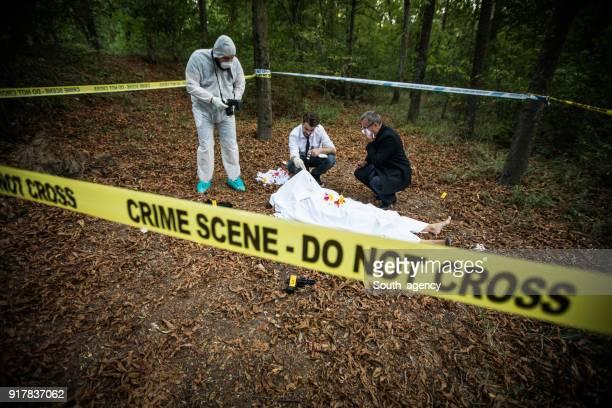 Crime scene in nature