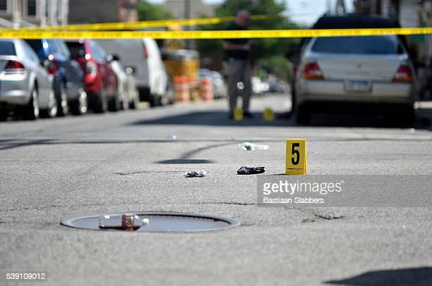 Crime Scene in North Phialdelphia, Pennsylvania