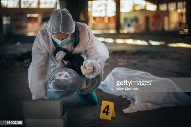 crime scene investigation - victim stock pictures, royalty-free photos & images