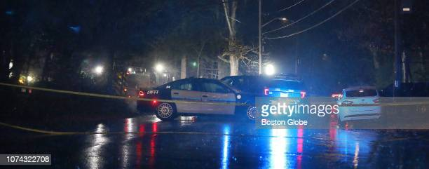 A crime scene is investigated at Bay and Allen roads in Easton MA on Dec 16 2018 Easton Police Chief Gary Sullivan addressed the media hours after a...