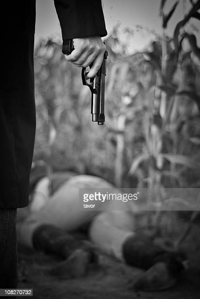 crime scene - dead gangster stock pictures, royalty-free photos & images