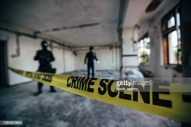 crime scene - murder victim stock pictures, royalty-free photos & images
