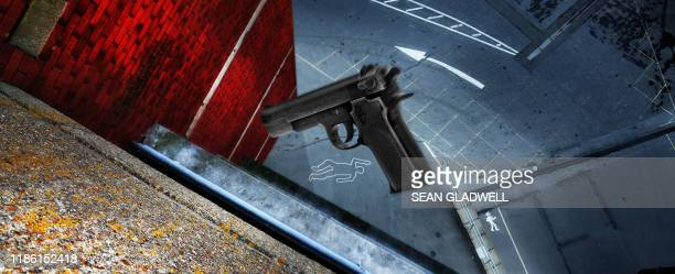 crime scene - gunman stock pictures, royalty-free photos & images