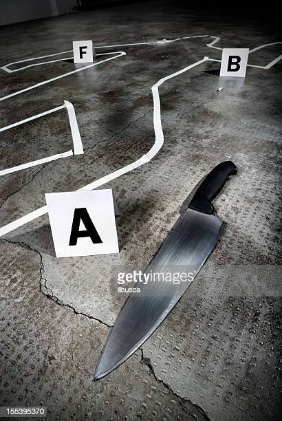 crime scene - chalk outline stock pictures, royalty-free photos & images