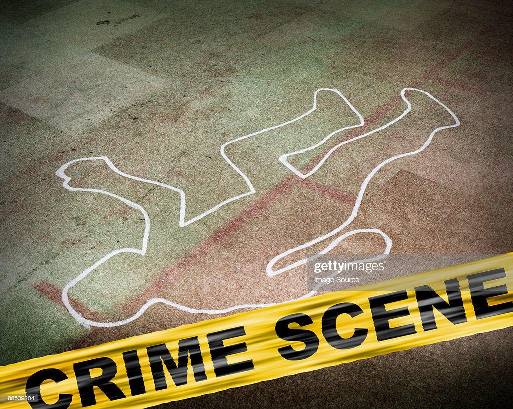 A crime scene : Stock Photo