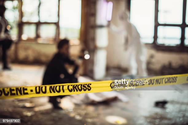 crime scene - criminal investigation stock pictures, royalty-free photos & images