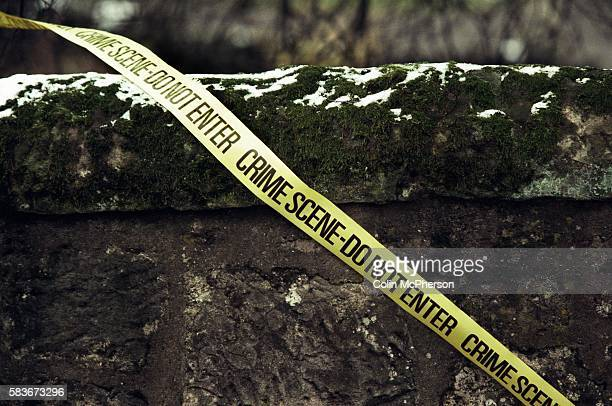 A crime scene ribbon outside Dunblane primary school Scotland shortly after the shooting incident on the premises The Dunblane school massacre was...