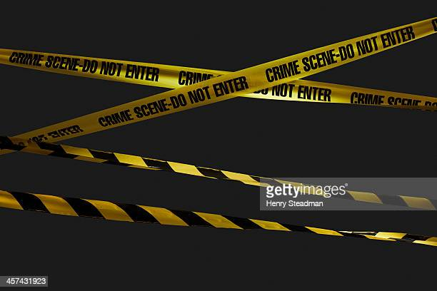 crime scene tape - cordon tape stock pictures, royalty-free photos & images