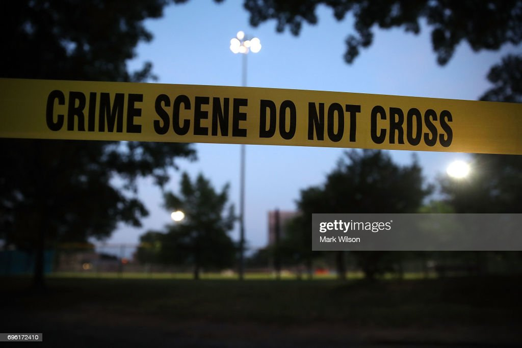 Investigation Continues At Site Of Congressional Baseball Shooting Incident : News Photo
