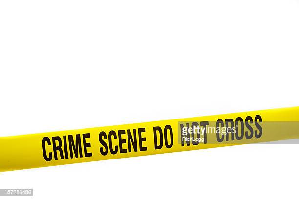 crime scene tape with clipping path - cordon boundary stock pictures, royalty-free photos & images