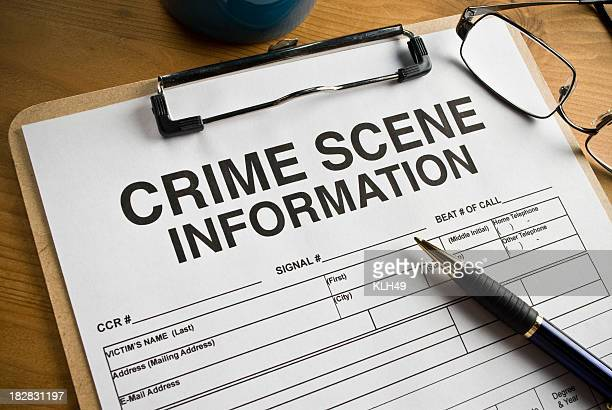 Crime Scene Worksheet