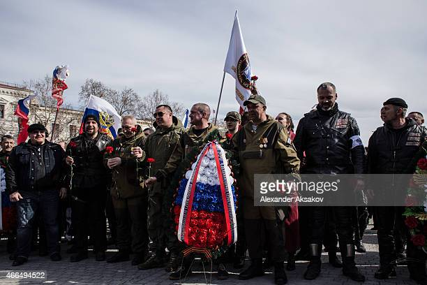 Crimeans celebrate the first anniversary of the referendum on March 16 2015 in Sevastopol Crimea Today marks the first anniversary of the referendum...