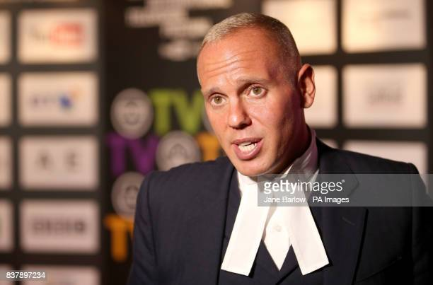 Criminal barrister Judge Robert Rinder at the 2017 Edinburgh International Television Festival at the Edinburgh International Conference Centre