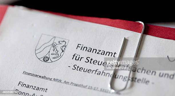 A criminal case file as pictured at the Tax and Revenue Office on December 13 2013 in Bonn Germany