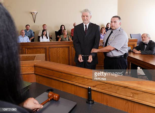 criminal defendant in court - sentencing stock pictures, royalty-free photos & images