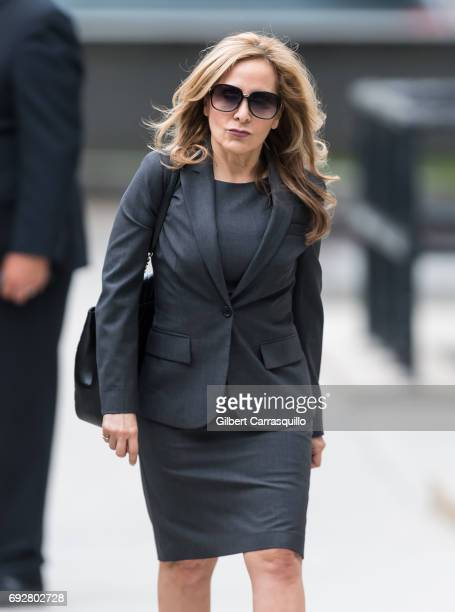 Criminal defense attorney Angela Agrusa arrives to the first day of Bill Cosby court trial at Montgomery County Courthouse on June 5, 2017 in...