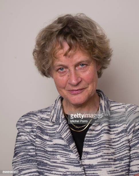 Criminal lawyer Benedicte Ficq poses at her office while preparing the first ever criminal case for her client Dutch lung cancer patient Anne Marie...