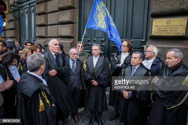 Criminal lawyers marching for the rights of prisoners Mobilization against inhumane treatment of prisoners in prisons in Naples southern Italy