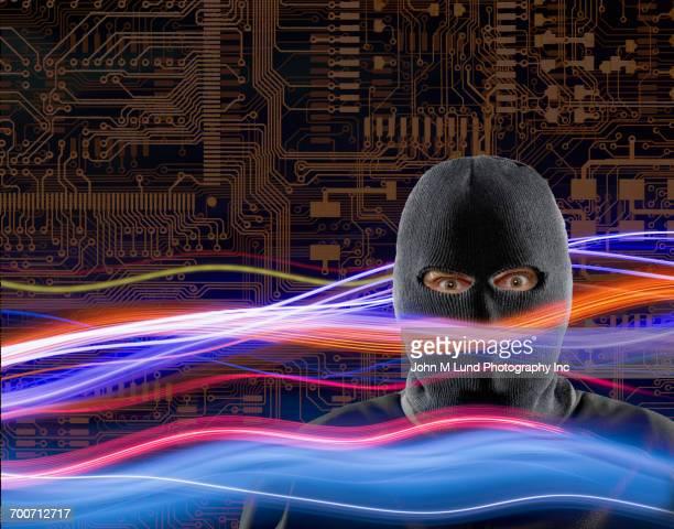 Criminal wearing ski mask in cyberspace