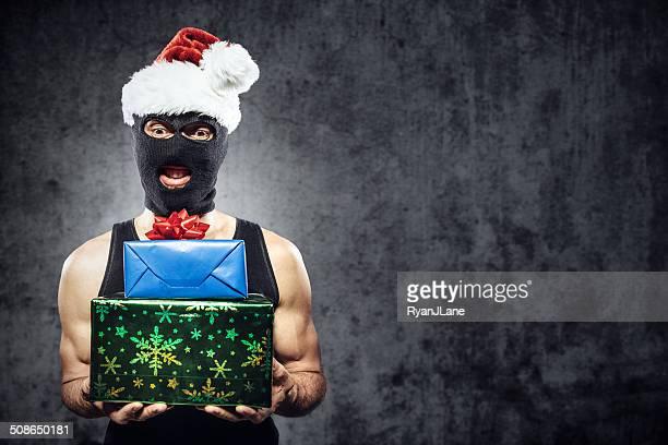 Verbrecher mit Weihnachten präsentiert