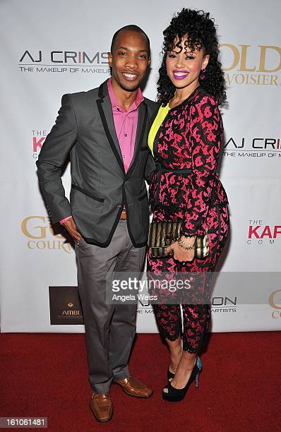 """Crimson and Elle Varner arrive at BET Network's Music Matters Showcase """"Lipstick On The Mic"""" at Belasco Theatre on February 8, 2013 in Los Angeles,..."""