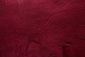 Crimson colored abstract wall background with textures of different shades of crimson