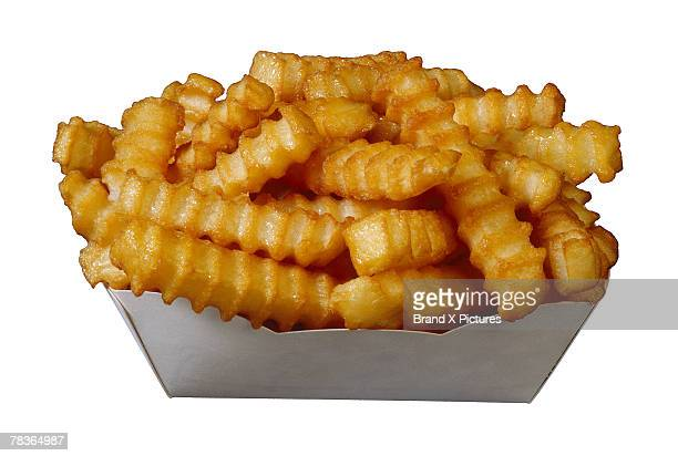 Crinkle-cut french fries