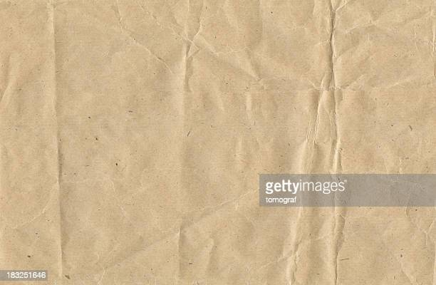 crinkled brown paper - full frame stock pictures, royalty-free photos & images