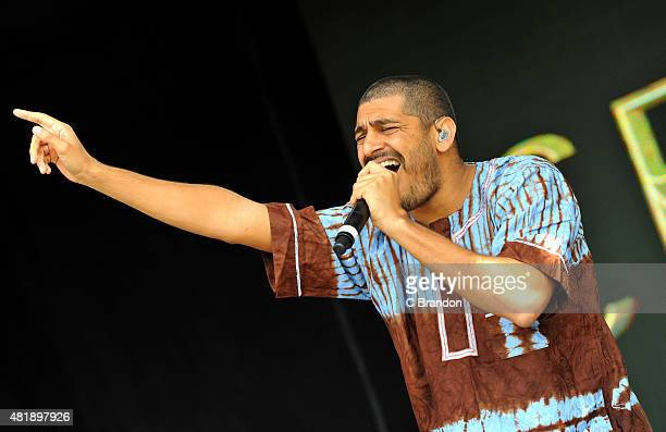 Criolo performs on stage during the 2nd Day of the Womad Festival at Charlton Park on July 25 2015 in Wiltshire England