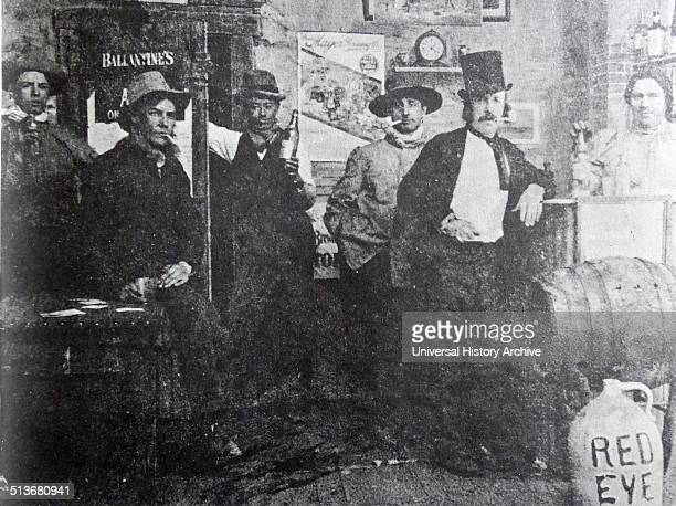 """""""Cripple Creek Barroom"""", 1898. This authentic-looking vignette of the Old West was actually produced in Edison's """"Black Maria"""" studio in Menlo Park,..."""