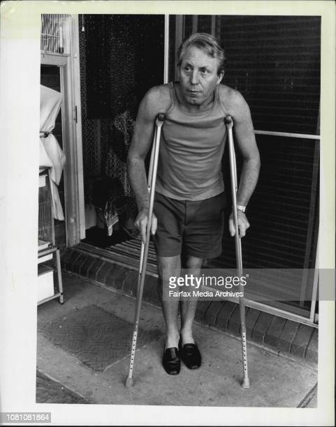 Crippled and in agony.... Harry Dezwart pictured last year as waited upon Westmead Hospital to give him an operation which would ease the pain and...
