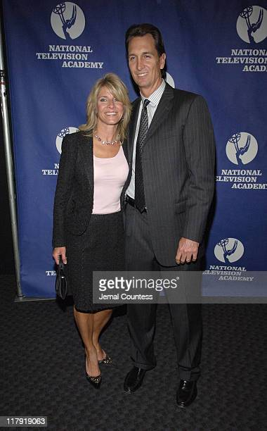 Cris Collinsworth and guest during 26th Annual Sports Emmy Awards Arrivals at Frederick P Rose Hall at Jazz at Lincoln Center in New York City New...