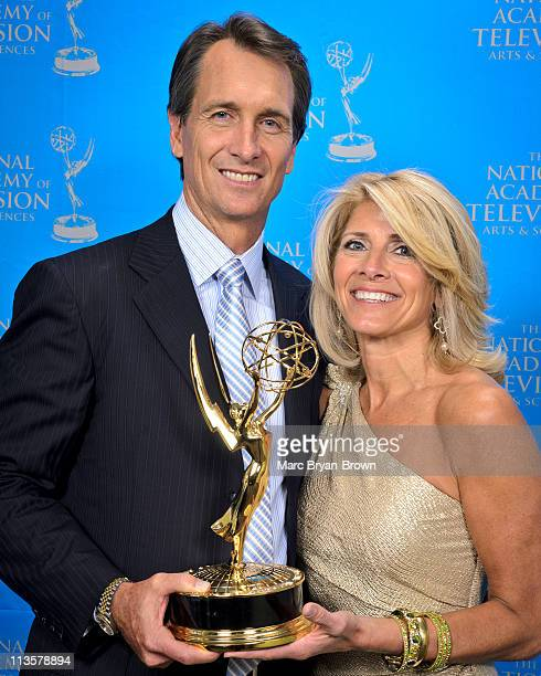 Cris Collinsworth and Holly Collinsworth attend the 32nd annual Sport Emmy Awards at Frederick P Rose Hall Jazz at Lincoln Center on May 2 2011 in...