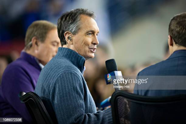 Cris Collinsworth on stage before a game between the Indianapolis Colts and the Tennessee Titans at Nissan Stadium on December 30 2018 in Nashville...