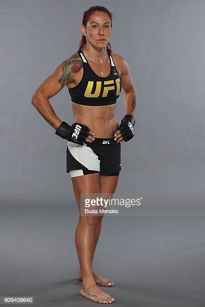 Cris Cyborg of Brazil poses for a portrait during a UFC photo session on September 20 2016 in Brasilia Brazil