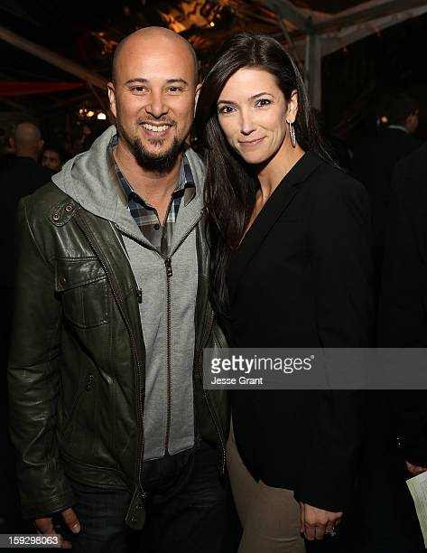 Cris Judd and Kelly A Wolfe attend The 4th Annual Unbridled Eve Derby Prelude Party at The London West Hollywood on January 10 2013 in West Hollywood...