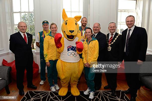 Cris Robbins leader of the Waltham Forest Council Steve Waugh former Australian cricket captain Australian athletes Libby Trickett James Chapman and...